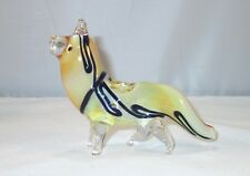 """Glass Dog Wolf Tobacco Pipe 5"""" Collectible Hand Blown Animal"""