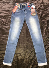 NWT Hot Kiss Women's Roll Up Skinny Get The Lift Jeans Extreme Stretch Denim NWT