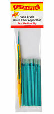 Flex-I-File Nano Brushes With Applicator Handle 24 Brushes Teal Medium Tip
