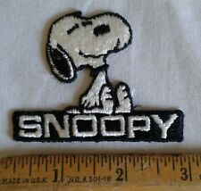 "Vintage Snoopy Embroidered Patch Peanuts Gang 3"" x 2"" Iron On"