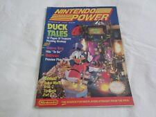 Nintendo Power Magazine Volume #8 Sept Oct 1989 DuckTales Tip Book + Poster RARE