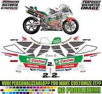 kit adesivi stickers compatibili vtr 1000 sp2 castrol