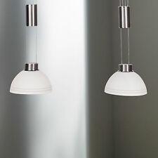 WOFI LED Luminaire suspendu CLASSE à 2 lampes nickel-mat réglable en hauteur