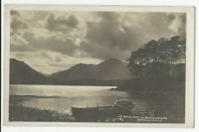 Cumbria - Moonlight on Derwentwater - Real Photo Postcard franked 1919