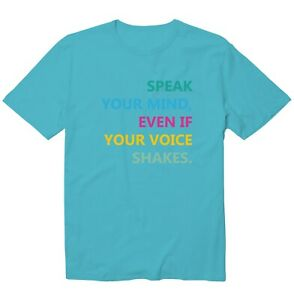 Speak Your Mind Girl Power Woman Right RGB Cool Unisex Kid Youth Graphic T-Shirt