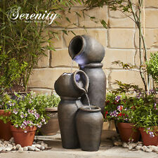 Cascading Pots Water Feature Fountain Waterfall 62cm Garden Ornament by Serenity