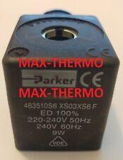 LUCIFER-PARKER DZ06S6 MODEL 483510S6 XS03XS6 F SOLENOID VALVE COIL 220-240 V 9W