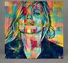 Motiv Kate Moss Abstrakt 120 cmx120 cm Acrylglas 5 mm PopArt/StreetArt/Loft/XXL