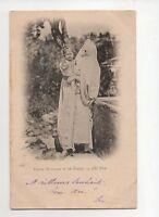 Algerien - weiblich Maurische und sein Kind (J1649)