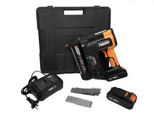 PE20V2118G Cordless F Nailer & Stapler With Two Batteries 20V 2.0ah Nail Gun