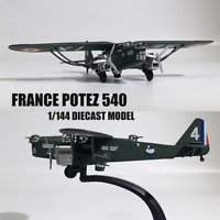 Hot WWII FRANCE POTEZ 540 1/144 Scale Diecast Plane Model Aircraft Collection