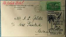 1. Offizielle Raketenpost Funes Cuba Havanna 15.10.1939 Rocket mail Habana Brief