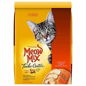 Meow Mix Tender Centers Dry Cat Food Salmon & Chicken Flavors 13.5 Pounds