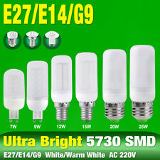 220V 5730 LED Corn Bulb Cool/Warm Milky White E27 E14 G9 Base Lamp 7/9/15/20/25W