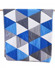 Boys Leo Blue & Grey Jersey Quilted Throw Rug Blanket  Linens N Things