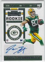 2019 PANINI CONTENDERS JACE STERNBERGER AUTO RC #213 GREEN BAY PACKERS TEXAS A&M