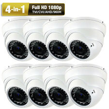 1080PTVI 36IR Vari-focal Surveillance Security Camera System 8pc free AC System
