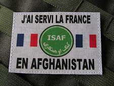 """Snake Patch - """" J'AI SERVI LA FRANCE EN AFGHANISTAN """" SCRATCH opex COMBAT ISAF"""
