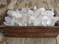 500 Carat Lots of Unsearched Quartz Crystal Points + a FREE faceted gemstone