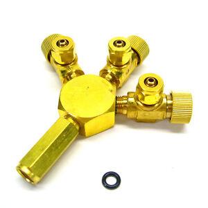 3 Ways Metal Co2 Flow Controller - Tri Regulator Brass Splitter Solenoid Aquatic
