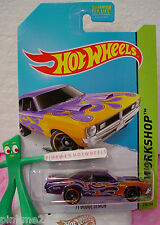 Case F 2014 Hot Wheels '71 DODGE DEMON #216 US∞Purple; Orange Flame~Heat Fleet