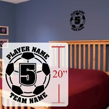 Soccer Wall decal ,Personalized Soccer futbol, Football soccer stickers, decal