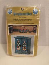 Vintage Miniature Wood Furniture Kit Puppenmobel Kleiderschrank Knorr Germany
