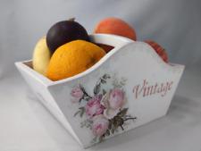 Wooden Basket Vintage Fruit Basket | Home Decor Basket Storage Basket Handmade