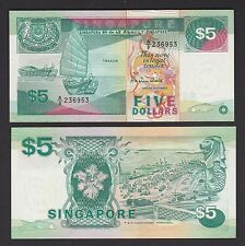 Singapore 5 Dollars (1989) P19 Ship Series - UNC