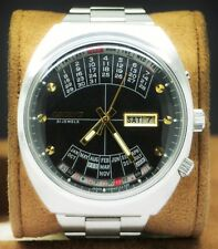 Vintage Orient Perpetual Calendar Black Dial Automatic 21 Jewels Men's Watch