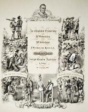 1853 Radetzky Einblattdruck Tirol Vorarlberg Lithographie