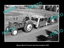 OLD LARGE HISTORIC PHOTO OF MASSEY HARRIS 55 RT TRACTOR 1948 TEST PHOTO 3