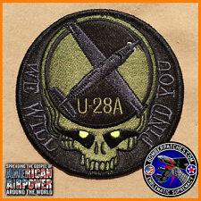 "U-28A ""We Will Find You"" Patch, Black & Dark Green Subdued, AFSOC Hurlbert Field"