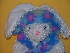 FIESTA WHITE CURLY FUR EASTER BUNNY WEARING FLORAL HAT AND SCARF JELLY BEAN FEET