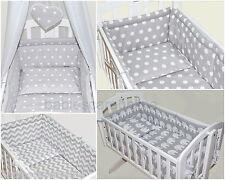 6 pcs bedding set/All roud Bumper/sheet/duvet/ to fit baby swinging crib/craddle