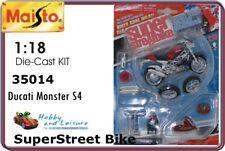 Maisto 35014 1:18 Ducati Monster S4 Super Street Bike (Red)