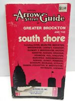 Vintage 1973 Official Arrow Street Guide Of Greater Brockton And The South Shore