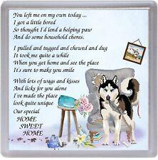 "Black Poodle Dog Coaster /""HOME SWEET HOME Poem ../"" Novelty Gift by Starprint"
