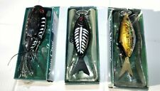 Chuck Woolery'S 1 Moto Chug And 2 Moto Minnows, Motorized Lures, New Old Stock