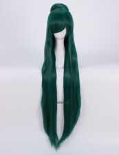 Anime Sailor Moon Sailor Pluto Meiou Setsuna Wigs Cosplay Costume Wig + Wig Cap