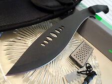 "Schrade Survival Kukri Machete Knife Full Tang Sharpener Fire Rod SCHKM1 19 1/2"""