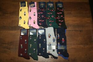Brand New Polo Ralph Lauren Men's Bear Trouser 2-Pack Socks SHIP FREE US FAST