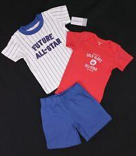 Ropa para Bebé Niños Carter's de 3 Piezas Body Pantalones Cortos & All-Star Camiseta 18 meses nuevo con etiquetas