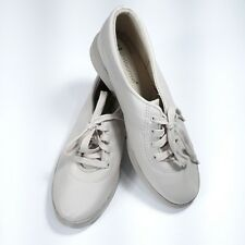 Grasshoppers Womens Beige Lace Up Walking Shoes Size 7.5 W