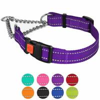 Martingale Dog Collar Training Reflective Nylon Pet Choke Collars Medium Large
