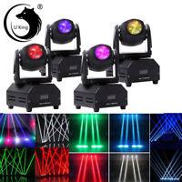 4PC 60W RGBW Mini Beam Spot Moving Head Stage Light DMX Bar Party DJ Disco Light