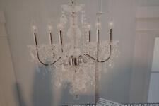 Portfolio 6-Light Polished Chrome Vintage Clear Glass Candle Chandelier-Open Box