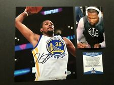 Kevin Durant Rare! signed autographed Warriors Curry 8x10 photo Beckett BAS coa
