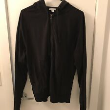 JAMES PERSE Standard black Cotton Hoodie sz 3 Large full zip Mens