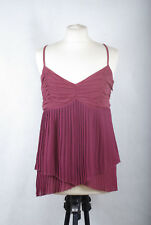 L148/39 Whistles Women's Purple Pleated Cami Strap Top, size 12